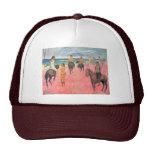 El montar en la playa de Gauguin Paul (la mejor Gorro