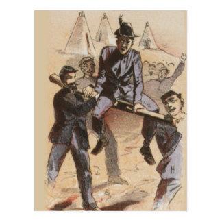 El montar en la vida de la guerra civil del carril postales