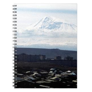 El monte Ararat visto de Ereván Libretas Espirales