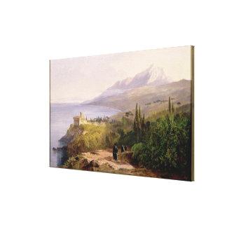 El monte Athos y el monasterio de Stavroniketes, 1 Impresion En Lona