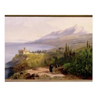 El monte Athos y el monasterio de Stavroniketes, 1 Tarjeta Postal