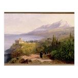 El monte Athos y el monasterio de Stavroniketes, Postal