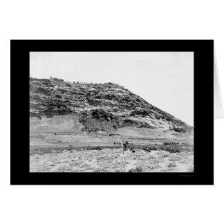 El monte Carmelo Palestina, y hombre 1902 de la Tarjeta De Felicitación