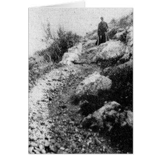 El monte Carmelo, rastro cerca de la capilla del Tarjeta De Felicitación