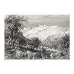 El monte de los Olivos, del monte Sion Impresión En Lona Estirada