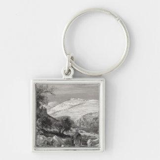 El monte de los Olivos, del monte Sion Llavero Personalizado