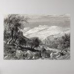 El monte de los Olivos, del monte Sion Poster