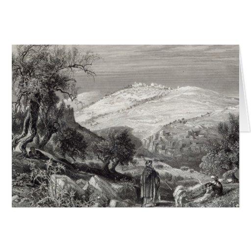 El monte de los Olivos, del monte Sion Tarjeton
