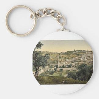 El monte de los Olivos y Gethsemane, visión genera Llavero Personalizado