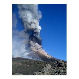 El monte Etna - erupción volcánica Tarjetas Postales