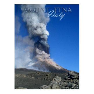 El monte Etna - erupción volcánica Tarjeta Postal