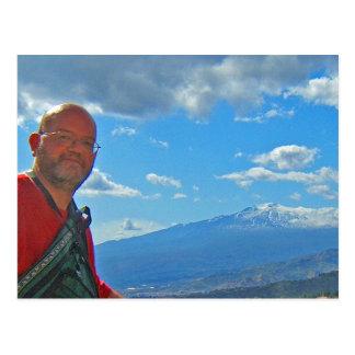 El monte Etna, postal de Italia