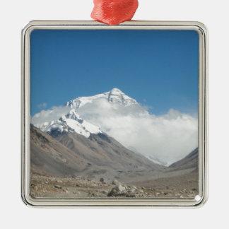 El monte Everest 10 Adorno Navideño Cuadrado De Metal