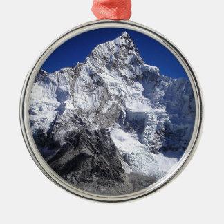 El monte Everest 2 Adorno Navideño Redondo De Metal