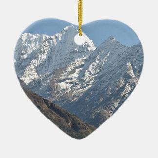 El monte Everest 3 Adorno Navideño De Cerámica En Forma De Corazón