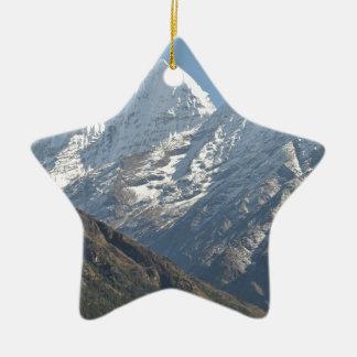 El monte Everest 3 Adorno Navideño De Cerámica En Forma De Estrella