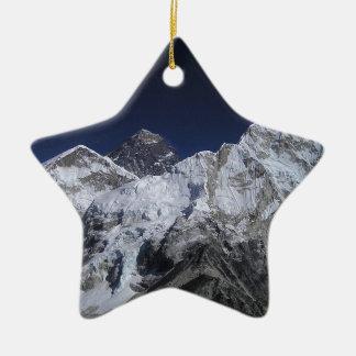El monte Everest 5 Adorno Navideño De Cerámica En Forma De Estrella
