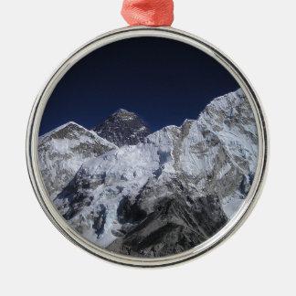 El monte Everest 5 Adorno Navideño Redondo De Metal