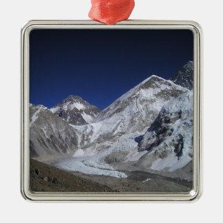 El monte Everest 6 Adorno Navideño Cuadrado De Metal