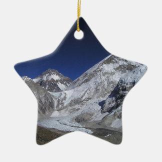 El monte Everest 6 Adorno Navideño De Cerámica En Forma De Estrella