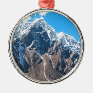 El monte Everest 7 Adorno Navideño Redondo De Metal