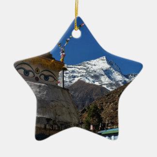 El monte Everest 8 Adorno Navideño De Cerámica En Forma De Estrella