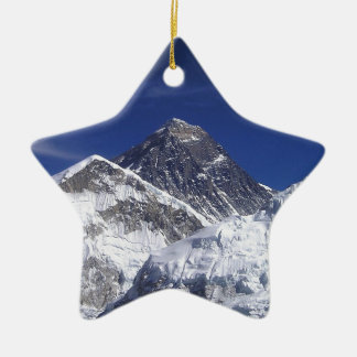 El monte Everest Adorno Navideño De Cerámica En Forma De Estrella