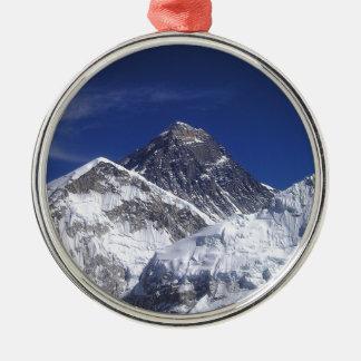 El monte Everest Adorno Navideño Redondo De Metal