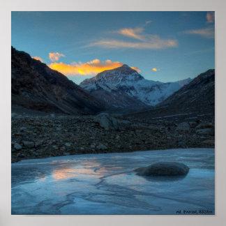 El monte Everest HDR, el monte Everest, los 8838m Póster