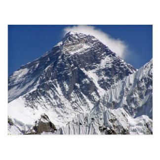 El monte Everest - la montaña más alta de la Postales