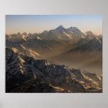 El monte Everest, montañas de Himalaya, Asia Poster