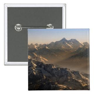 El monte Everest, montañas de Himalaya, Asia Pin Cuadrado