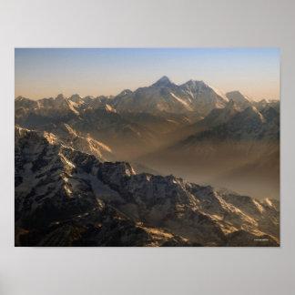 El monte Everest, montañas de Himalaya, Asia Póster