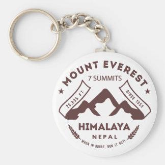 El monte Everest Nepal Llavero Redondo Tipo Pin