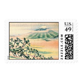 El monte Fuji 1890 Sello