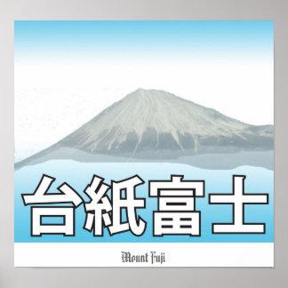 El monte Fuji 2 Posters