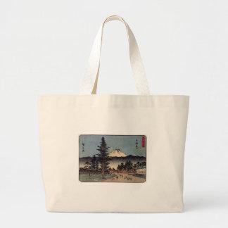El monte Fuji antiguo que pinta los 1800s Japón de Bolsas Lienzo
