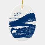 El monte Fuji azul Ornamento Para Arbol De Navidad