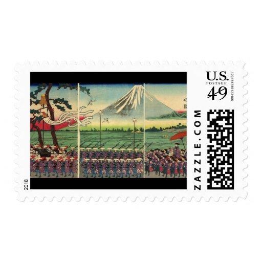 El monte Fuji circa 1860's