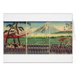 El monte Fuji circa 1860's Tarjeta De Felicitación