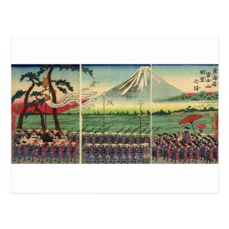 El monte Fuji circa 1860's Tarjetas Postales