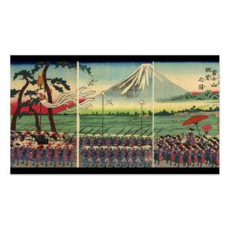 El monte Fuji circa tarjeta de visita de los 1860'