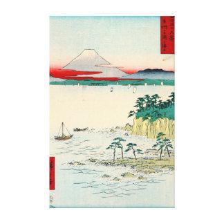 El monte Fuji de la provincia 1858 de Soshu Lona Envuelta Para Galerias
