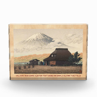 El monte Fuji del arte del hanga de la espinilla d