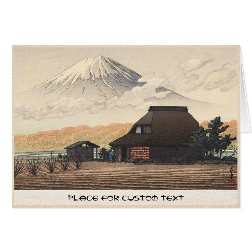 El monte Fuji del arte del hanga de la espinilla d Felicitación