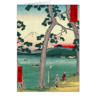 El monte Fuji del camino 1858 de Tokaido Tarjeta De Felicitación