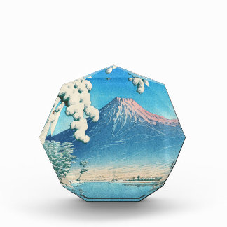 El monte Fuji después de la escena del hanga de la