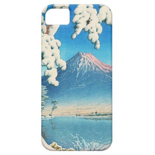 El monte Fuji después de la escena del hanga de la iPhone 5 Cárcasa