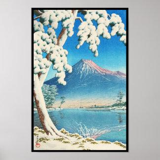 El monte Fuji después de la escena del hanga de la Impresiones