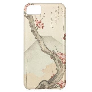 El monte Fuji detrás de un árbol de ciruelo Funda Para iPhone 5C